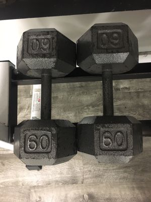 60 lb dumbbell pair for Sale in Naperville, IL