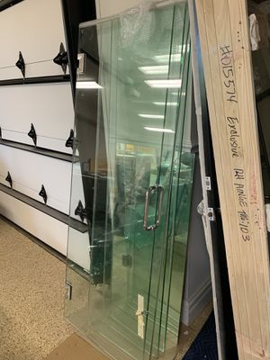 3 Bathroom glass door and side panel for Sale in Naperville, IL