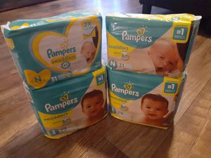Pampers Size N and 2 for Sale in Arlington, TX