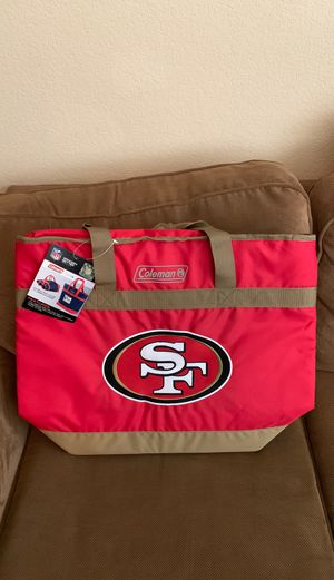 San Francisco 49ers Coleman heavy duty hot or cold cooler bag, holds 40 cans for Sale in Elk Grove, CA