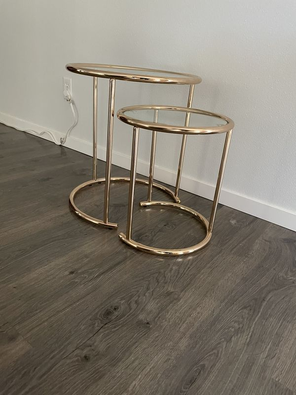 Gold Coffee Table End Table