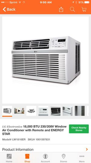 New in the Box 18,000 BTU window AC for Sale in Murrieta, CA