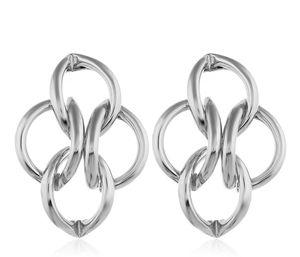SILVER UNIQUE GEOMETRIC HOOP BRAIDED DIAMONDS STUD EARRINGS for Sale in Macomb, MI