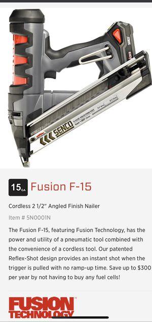 Senco F-15 Fusion, Finishing Nail Gun angled etc for Sale in Bellingham, WA