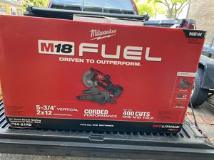 """Milwaukee fuel 10"""" miter saw kit for Sale in Redwood City, CA"""