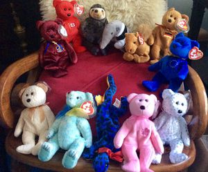 12 Beanie Babies in new condition for Sale in Arlington, VA