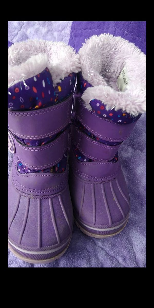 Kids girls snow /rain boots sz 7/8 brand is thermolite