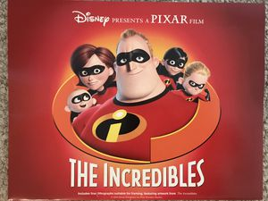 Disney Incredibles Lithograph Set - 4 for Sale in Purcellville, VA