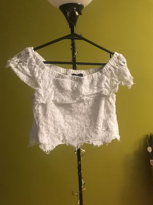 Lace White Off the Shoulder Crop Top for Sale in Bethesda, MD