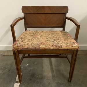 Vintage Art Deco Chair, Vanity Seat for Sale in Signal Hill, CA