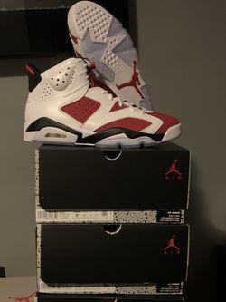 "Jordan 6 Retro ""Carmine"" size 9.5 & 10.5 MEN for Sale in Maywood,  IL"
