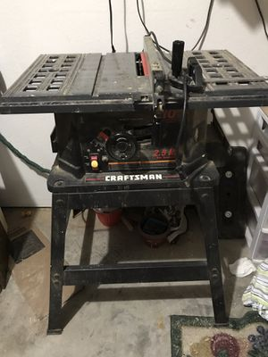 Craftsmans table saw for Sale in Pleasant Hill, MO