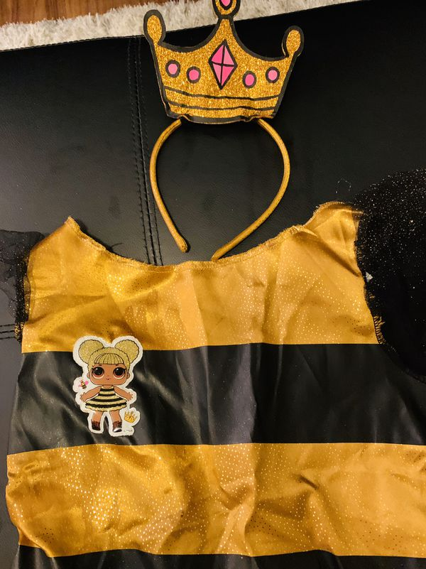 "LOL Doll Halloween Costume ""Queen Bee"" size 7/8"
