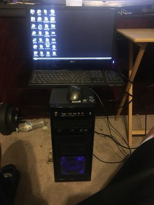 Desktop computer and monitor for Sale in Hyattsville, MD