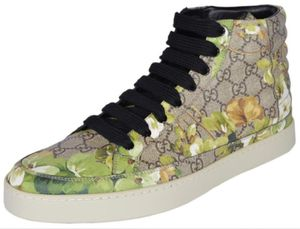 Gucci Beige/Ebony GG Coated Canvas Blooms Men's High-Top Sneakers for Sale in San Francisco, CA