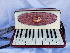 SALANTI ACCORDION ACCORDIAN CASE SHOULDER STRAP PALMER HUGHES 12 BASS HORNER for Sale in Avondale, AZ
