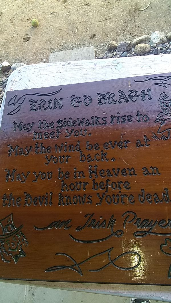 "Irish prayer sign approx 24x36"""