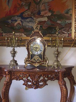Italian clock and candelabra for Sale in Laguna Beach, CA
