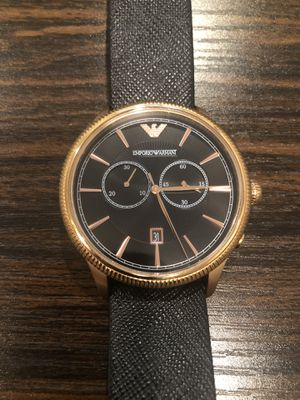 Rose gold and black Armani Men's watch for Sale in Silver Spring, MD