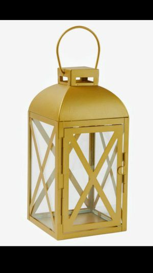 5 Gold Lantern Candle Holders NEW ! for Sale in Troutdale, OR