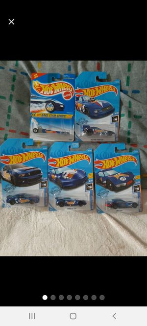 Hot Wheels Racing Dark~Blue 5 Piece Lot for Sale in Williamsport, PA