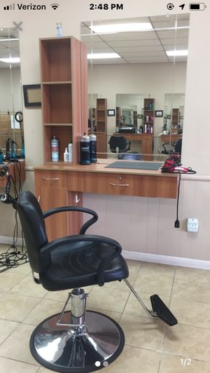 Salon stations including tower, mirror, and hydroelectric chair for Sale in Toms River, NJ