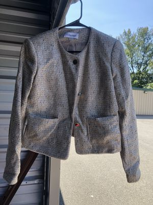 Lady's Calvin Klein tweed tan dress sports jacket, size 4 for Sale in Pittsburgh, PA