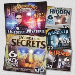 5 Hidden Object Games. PC format. for Sale in Sacramento, CA