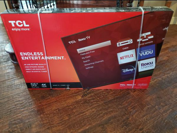 55 inch 4k ultra smart led hdtv built in Roku...new in box and sealed