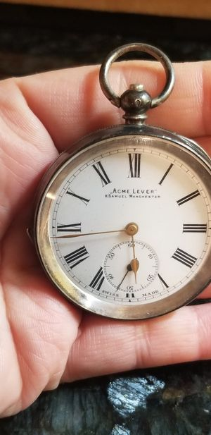ANTIQUE STERLING SILVER SWISS POCKET WATCH for Sale in Annandale, VA