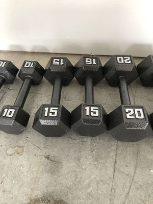 Cast Iron Hex Dumbbell for Sale in Harrisburg, PA