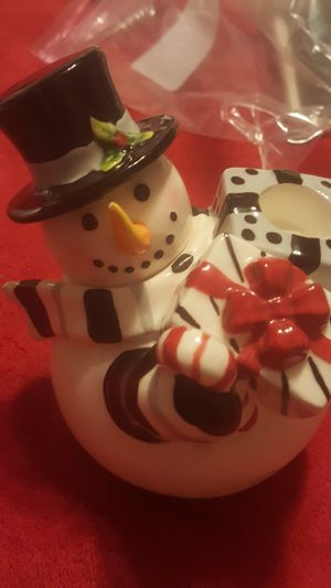 FITZ & FLOYD**CHRISTMAS**Snowman candle holder**EXCELLENT CONDITION for Sale in Albuquerque, NM