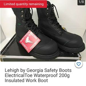 Men Composite toe insulated waterproof work boots for Sale in Garrison, MD