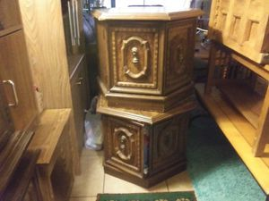 Cabinet with storage also end tables have a pair for Sale in Glendale, AZ