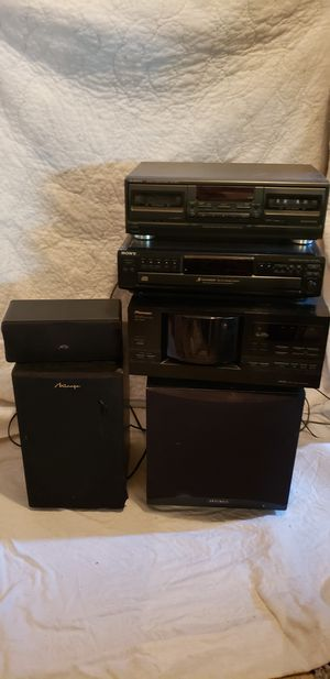 6 piece home stereo equipment, receiver, speakers for Sale in Arvada, CO