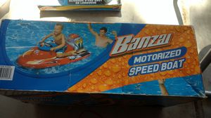 Motorized speed boat. An 2 different slip and slides for Sale in Chandler, AZ