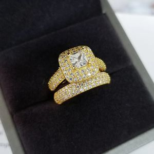 18K Yellow Gold plated Wedding/Engagement Set- Code D012 for Sale in Dallas, TX