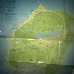 GTA 5 Map Poster for Sale in West Covina, CA
