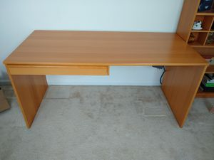 Large Ikea wooden desk with drawer for Sale in Herndon, VA