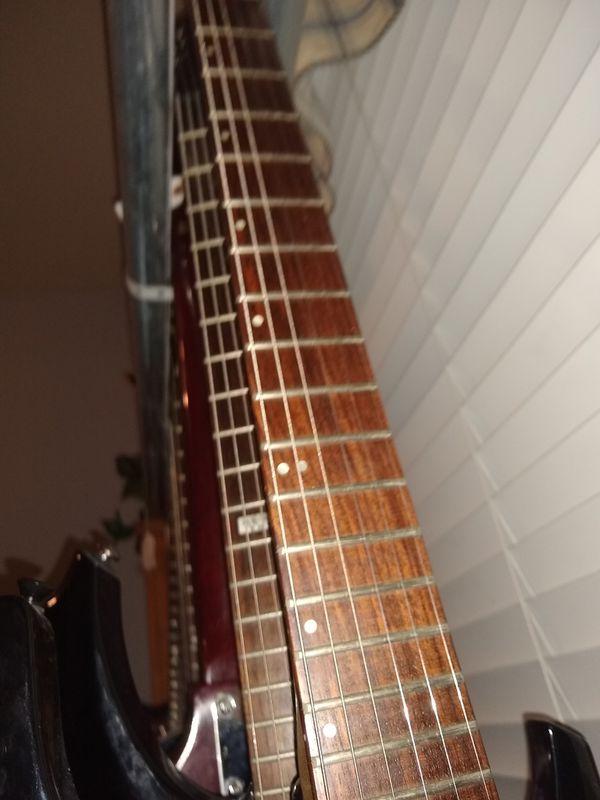 Fernandes electric guitar with Floyd Rose set up