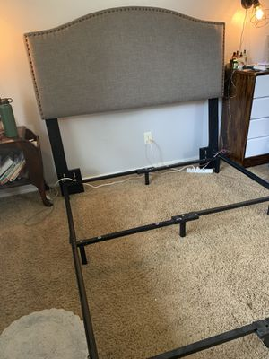 Queen bed frame with headboard for Sale in Gresham, OR