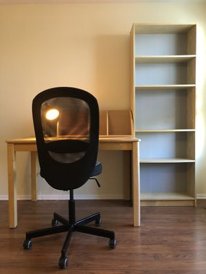 Desk, chair and bookshelf for Sale in Centennial, CO