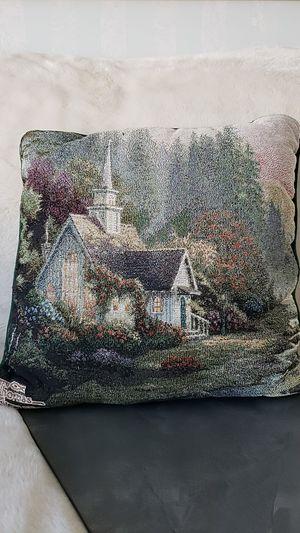 """Thomas Kincade Lighthouse Pillow 46""""×57"""" 2003 for Sale in Erlanger, KY"""