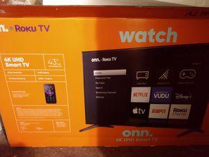 """Onn 43"""" UHD smart TV for Sale in Olathe, KS"""
