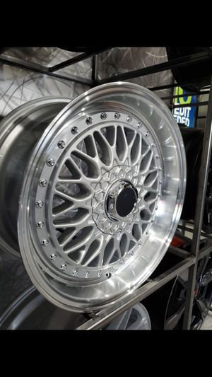 18x8 and 18x9 et35 5x114 BBS rs style wheels fits Toyota lexus is camry rim wheel tire shop for Sale in Tempe, AZ