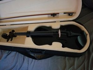 Black New Violin! Comes with extra strings,tuner,case and rosin for Sale in Anchorage, AK