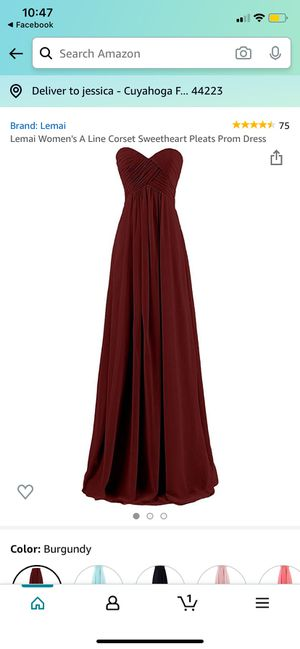 Maroon dress for Sale in Cuyahoga Falls, OH