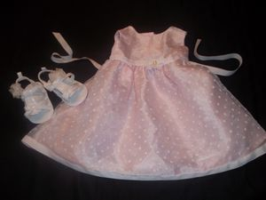 Baby Girls 24M Pink Dress & White Sandals 4 (infant size) for Sale in Tacoma, WA