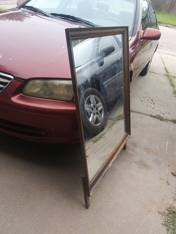 Large Wood Dresser Top Mirror