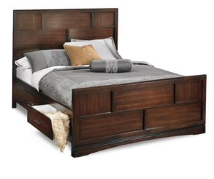 American signature queen bed frame w drawers for Sale in Tampa, FL
